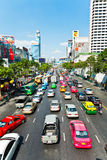 Atasco durante hora punta en Bangkok Fotos de archivo libres de regalías