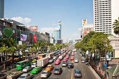Atasco en Bangkok Fotografía de archivo libre de regalías