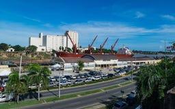 Atasco en el sistema de pesos americano del puerto Foto de archivo