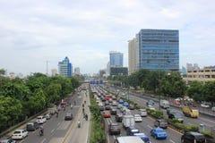 Atasco en Jakarta Fotos de archivo libres de regalías