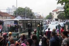 Atasco en Jakarta imagen de archivo libre de regalías