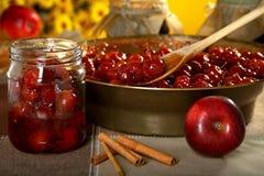 Atasco hecho de manzanas. Foto de archivo libre de regalías