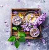 Atasco hecho en casa de la lila Imágenes de archivo libres de regalías