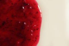 Atasco rojo en un fondo blanco imágenes de archivo libres de regalías