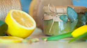Atasco sabroso de la fruta y limón jugoso Imagen de archivo libre de regalías