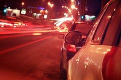 Atascos del coche del ‹del †del ‹del †de la ciudad Fotografía de archivo libre de regalías
