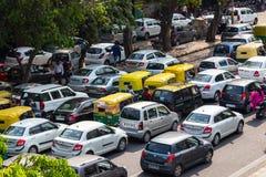 Atascos en Delhi, la India Imagen de archivo libre de regalías