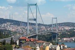 Ландшафт с мостом Ataturk Стоковые Изображения RF