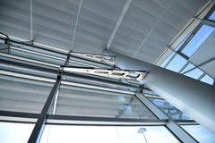 Ataturk Airport. Architectural details of the ceiling and wall of Ataturk Airport Royalty Free Stock Image