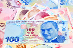 Ataturk on bills Stock Images