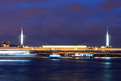 Ataturk bridge and Golden Horn in Istanbul, Turkey Stock Photos