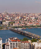 Ataturk Bridge Traffic in Istanbul Stock Image