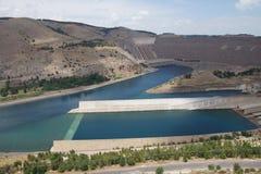 Ataturk dam on Euphrates River Stock Images