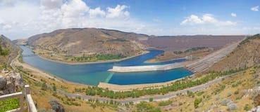 Ataturk dam on Euphrates River Royalty Free Stock Photo