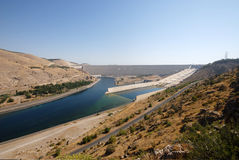Ataturk dam in turkey Royalty Free Stock Photos