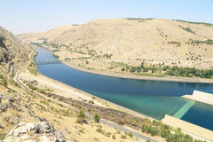 Ataturk Dam in Turkey Stock Images