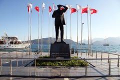 Ataturk en bronze Photographie stock