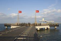 Ataturk en zijn vriendenbeeldhouwwerk. Samsun-Turkije Royalty-vrije Stock Fotografie
