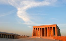 Ataturk Mausoleum. In Ankara, mausoleum of Ataturk, president founder of modern lay Turkey Royalty Free Stock Photography