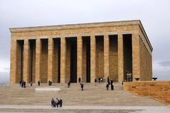 Ataturk mauzoleumu Anitkabir monumentalny grobowiec Mustafa Kemal Ata Zdjęcie Royalty Free