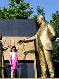 Ataturk met kind Stock Foto