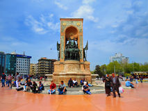 Ataturk Monument on the square Taksim Stock Photo