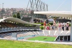 Ataturk Olympic Stadium i det Miniaturk museet Arkivbilder