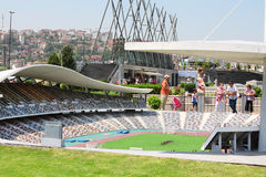 Ataturk Olympisch Stadion in Miniaturk-Museum Stock Afbeeldingen