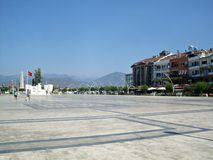 Ataturk square in Fethiye Royalty Free Stock Photo
