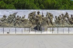 Ataturk Statue in The Canakkale Martyrs Memorial Canakkale stock images