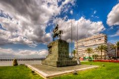 Ataturk Statue,Izmir. Cumhuriyet square is heart of Izmir City Stock Photography
