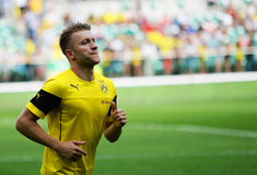Atch vänskapsmatch mellan Wks Slask Wroclaw och Borussia Dortmund Jakub Kuba Blaszczykowski Arkivbild