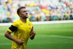 Atch vriendschappelijk tussen Wks Slask Wroclaw en Borussia Dortmund Jakub Kuba Blaszczykowski Stock Fotografie