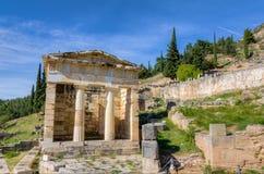Ateński skarbiec, Delphi, Grecja obraz stock