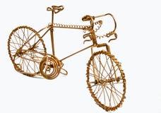 Ate con alambre la bicicleta del arte Imágenes de archivo libres de regalías