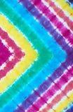 Ate el modelo teñido en fondo teñido inmersión del extracto de la técnica de la tela de algodón Fotos de archivo libres de regalías