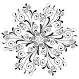 Ate el ornamento de la mandala de la flor, indio y árabe Imágenes de archivo libres de regalías