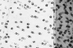Ate la tela Cordón negro pequeño en el fondo blanco Añada un sutil Fotos de archivo libres de regalías