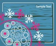Ate o teste padrão do inverno Imagens de Stock