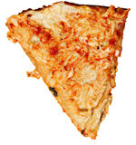Ate Topping Only, Scraped Pizza Crust Over White Royalty Free Stock Image