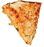 Ate Topping Only skrapad pizzaskorpa över vit Royaltyfri Bild