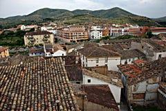 Ateca (Aragon) met landschap Royalty-vrije Stock Afbeeldingen