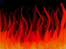 Ateie fogo à aquarela alaranjada vermelha quente impetuosa tirada isolada Fotos de Stock