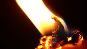 Ateie fogo ao quadro da vela na noite escura vídeos de arquivo