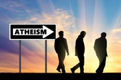 ateizm Ateiści Trzy mężczyzna zdjęcia royalty free