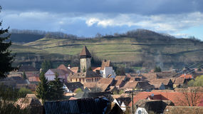 Atel在特兰西瓦尼亚罗马尼亚加强了教会 免版税库存照片