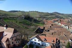 Atel 一个村庄在特兰西瓦尼亚罗马尼亚 免版税库存照片
