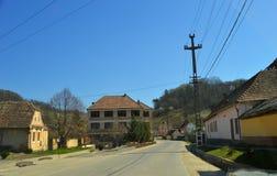 Atel 一个村庄在特兰西瓦尼亚罗马尼亚 图库摄影
