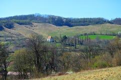 Atel 一个村庄在特兰西瓦尼亚罗马尼亚 免版税库存图片