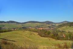 Atel 一个村庄在特兰西瓦尼亚罗马尼亚 免版税图库摄影